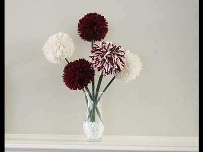 How to make pom pom flowers