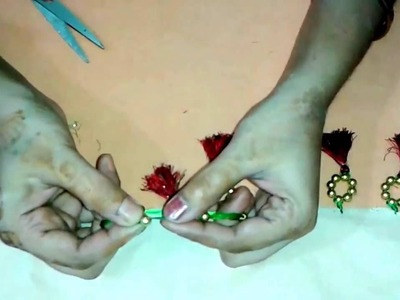 How to make Saree Tassel.Kuchu with Beads - Design 2