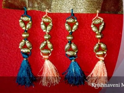 How to make Saree Tassel\Kuchu with Beads - Design 3