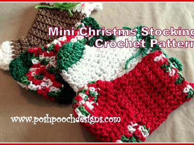 Mini Christmas Stocking Crochet Pattern