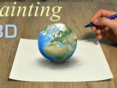 Planet Earth amazing 3D painting by Stefan Pabst