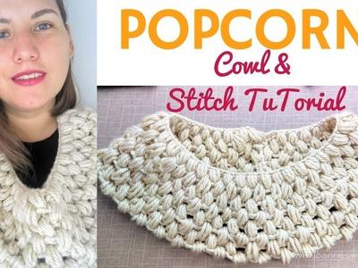 Popcorn Crochet Cowl | Crochet Puff Stitch