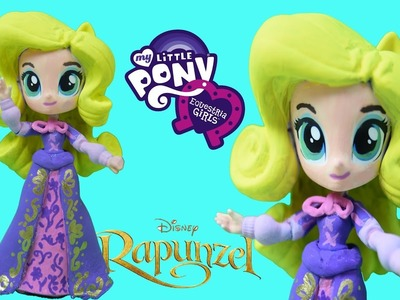 Rapunzel Disney Custom MLP Equestria Girl Rarity Mini Doll DIY How to tutorial