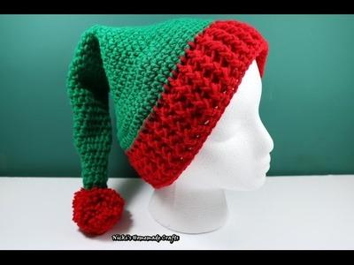 Tutorial: How to make an Elf hat with pom-pom