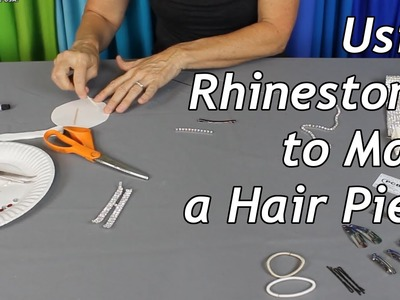 Using Rhinestones to Make a Hair Piece