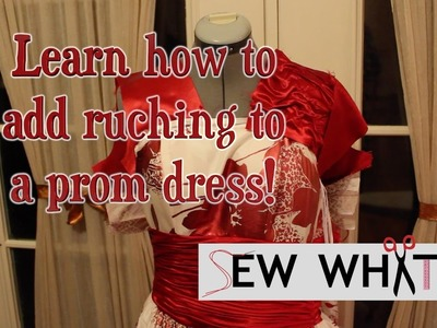 Adding Ruching to a Dress (How to Ruche)  |  Sew What?