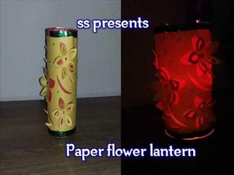 DIY  :  Paper flower lantern.How to Make Fancy Paper Lantern for christmas decoration
