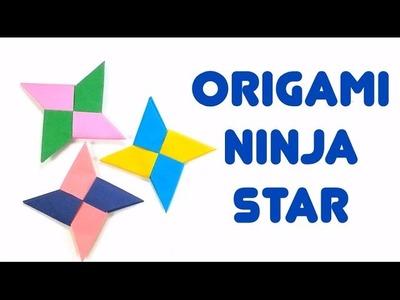 Easiest Way To Make Paper Ninja Star (Shuriken) - How-To Easy Origami Tutorial