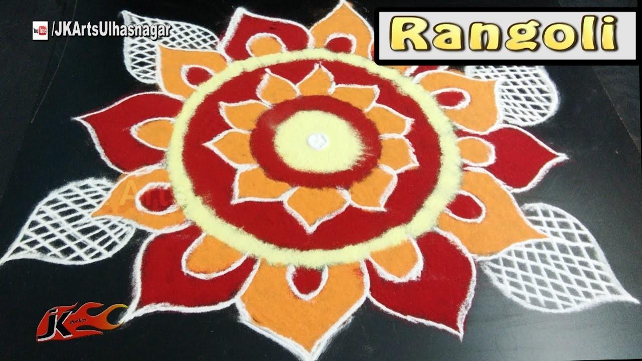 Easy Diwali Special Rangoli   Sanskar Bharati Rangoli    How to draw   JK Arts 1120