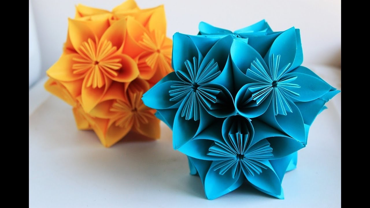 origami easy origami flower globe and carambola how to