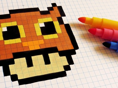 Halloween Pixel Art - How To Draw Owl Mushroom #pixelart
