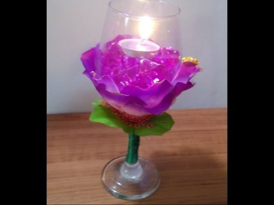 Handmade Lighting - Home Decor - How to Make a Decorative Floral Cup for Lighting + Tutorial .