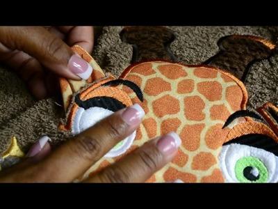 How To Attach 3D Ears to Applique Corner - Giraffe Ears Design