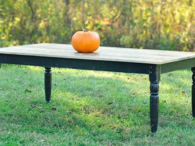 How to Build a Farmhouse Table - Full Project with Plans!