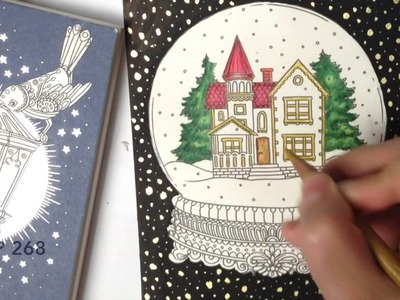 How to color  - Snow Globe - coloring with coloured pencils