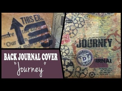 How to: Decorate an art journal's back cover
