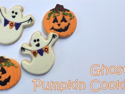 How To Decorate Ghost & Pumpkin Cookies