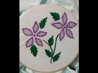 How to do Easy and beautiful embroidery stitches in a Beautiful design