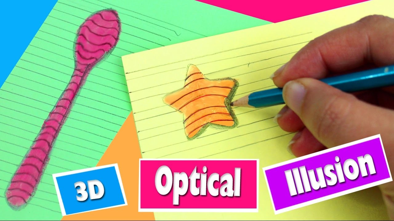 How to Draw in 3D All you need to know in 1 minute- Optical Illusion - Simplekidscrafts