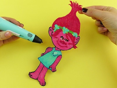 How to Draw Princess Poppy from Trolls with 3D PEN Video for Kids
