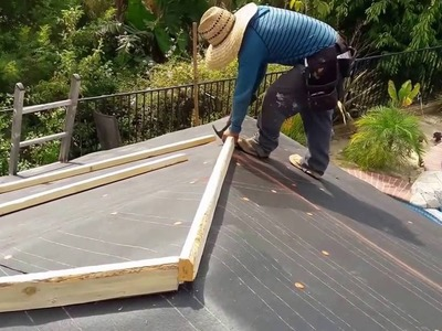 How to: Installing a tile roof , simple and easy , yet beautiful results.