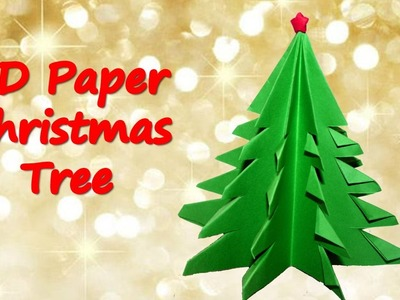 How to make 3D Paper Christmas Tree | Origami Christmas Tree | Table Top Christmas Tree