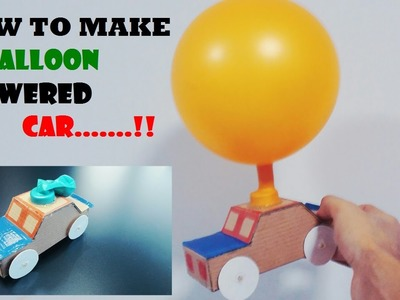 How To Make A Balloon Powered Car. .Very Simple!!