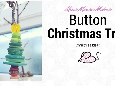 How to make a button Christmas tree decoration, button crafts