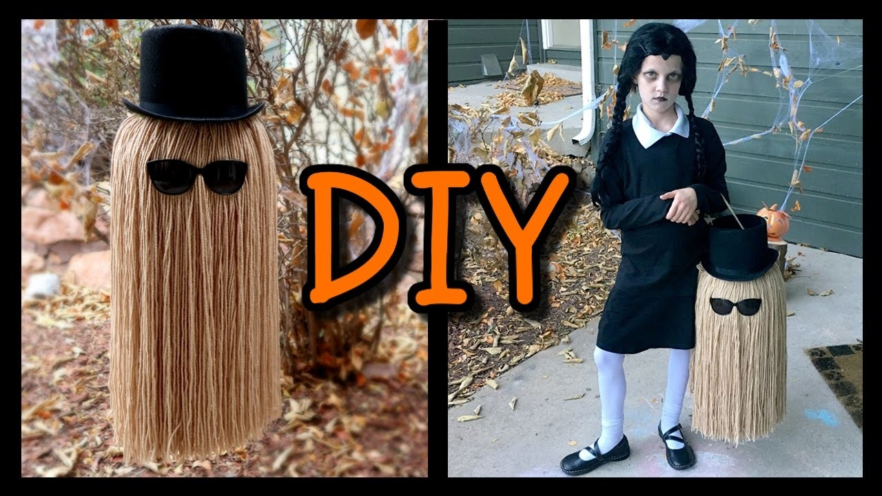 """HOW TO MAKE A """"COUSIN IT"""" TRICK OR TREAT BAG! 