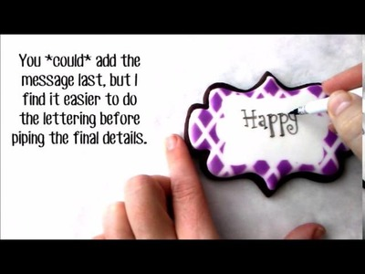 How To Make a Decorated Stencil Centerpiece Cookie