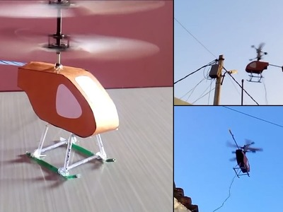 How to make a electric helicopter thats fly (Easy) || Electrical Engineering Projects