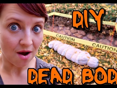 HOW TO MAKE A FAKE DEAD BODY   HALLOWEEN DECORATION!