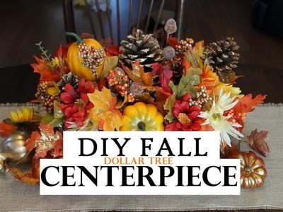How to make a Fall Centerpiece - Dollar Tree Decor