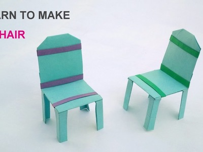 How to make a paper chair easy steps