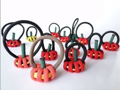 How to Make a Paracord.Shoelaces Halloween Pumpkin Keychain-Parapumpkins by CreationsByS