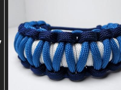 How to make a Spiral Cobra Stitch Paracord Bracelet[MAD MAX STYLE][UWA ORIGINAL]