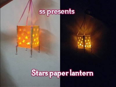 How to make A stars paper lantern.Room decorations. diwali decoration