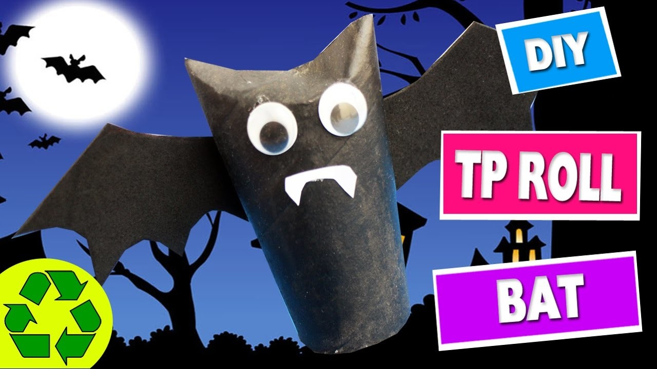 How to Make a Toilet Paper Roll Bat -  Toilet Paper Roll Crafts