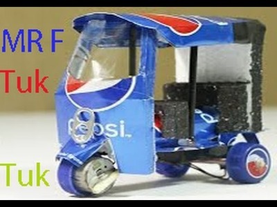 How To Make An Electric Tuk Tuk Rickshaw Using Of Pepsi Cans - Step by step Home DIY Easy Way