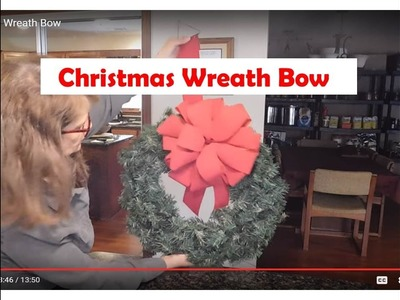 How To Make An Outdoor Christmas Wreath Bow With Lisa's World