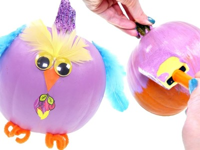 How To Make an Owl out of a Pumpkin | Fun Fall DIY Crafts for Kids with DCTC