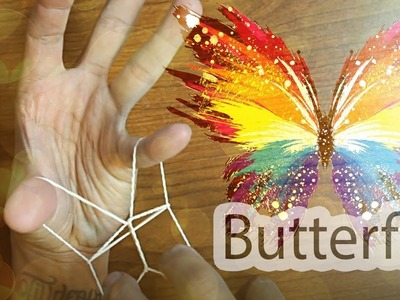 How To Make Butterfly With A Rubber Band