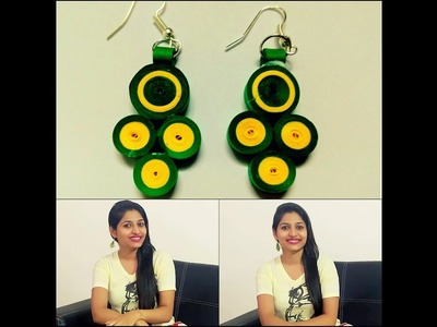 How to make casual paper quilling earrings