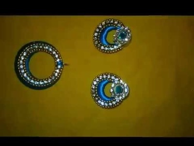 How to make chandbali designed earrings easy way in home