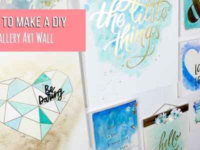 How to Make DIY Gallery Art Wall ~ Colour Reveal Range By Crate Paper + + + INKIE QUILL