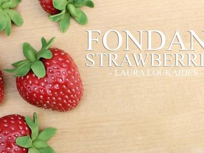 How to make Fondant Strawberries - Laura Loukaides