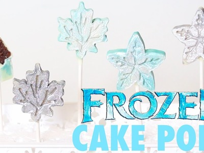 How to make FROZEN SNOWFLAKE CAKE POPS! | Its A Piece Of Cake