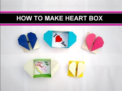 How to make Love box or Heart box easy steps