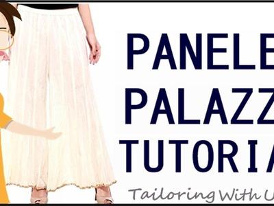 How To Make Paneled Palazzo | Cutting And Stitching Of Paneled Palazzo - Tailoring With Usha