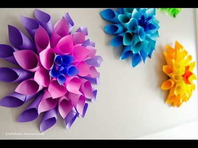 How to make paper flowers,Very Easy and so Simple